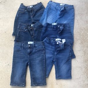 Lot of 6 pair of Old Navy denim shorts